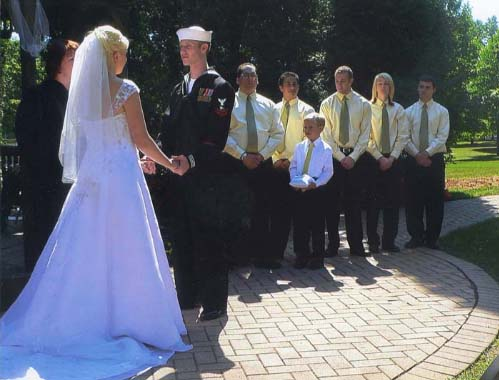 Outdoor wedding ceremony at Bonnie Brook Golf Course